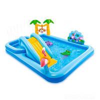 """Надувной игровой центр с бассейном """"Приключения в джунглях"""""""