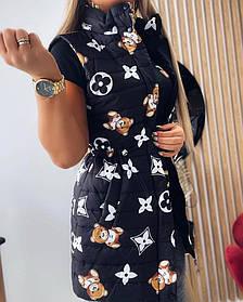 Стильная модная жилетка Белый, Черный, размеры 42-44; 46-48; 50-52