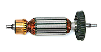 Якорь на болгарку Титан 125 (вариант №1 - 157*32/шлиц 10*7)
