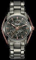 Часы наручные мужские RADO HYPERCHROME AUTOMATIC OPEN HEART 01.734.0021.3.010/R32021102, керамический браслет