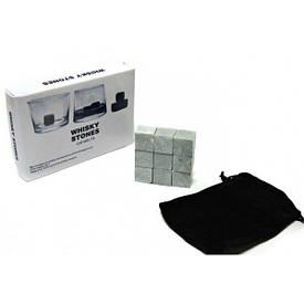 Камені для віскі Whisky Stones Ice Melts 9шт., тканинний мішечок, матеріал - стеатит