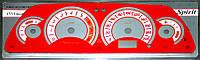 """ProSpirit - Накладки на панель приборов для ВАЗ 2110-2111, """"Нива Шевроле"""", Red, YB-002"""