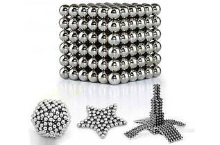 Неокуб | Магнитные шарики | Магнитный конструктор NeoCub Silver 4 мм