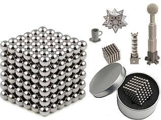 Неокуб | Развивающая игрушка | Магнитный конструктор NeoCub Silver 4 мм