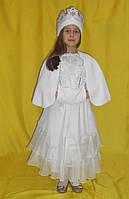 Шикарный костюм снегурочки в белом. Детский костюм снегурочка прокат Киев, фото 1