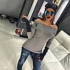 Свитер с открытыми плечам и 3Д буквой, фото 2