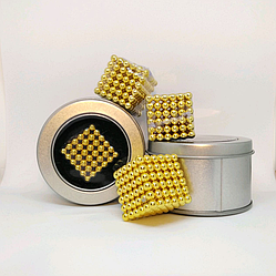 Неокуб | Подарунок іграшка | Магнітний конструктор NeoCub Gold 5 мм