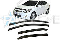 Ветровики на Окна Hyundai Accent New с 2010 г.в. (Седан)