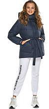 Темно-синяя куртка комфортная женская модель 21045
