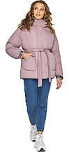 Трендовая куртка пудровая женская модель 21045