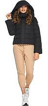 Куртка с воротником черная женская модель 21470