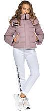 Женская пудровая куртка с ветрозащитным клапаном модель 21470