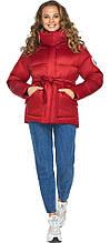 Рубиновая женская куртка на молнии модель 24350