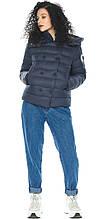 Куртка с манжетами женская темно-синяя модель 22150