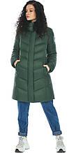 Удобная нефритовая куртка женская модель 21025 (ОСТАЛСЯ ТОЛЬКО 40(4XS))
