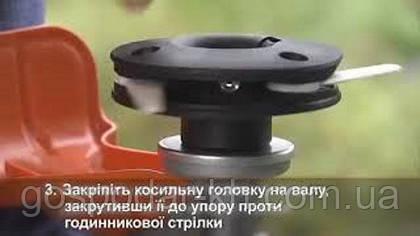 Монтаж косильной головки PolyCut 20-3 с пластиковыми ножами