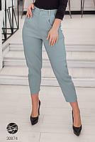 Жіночі джинсові штани-галіфе з завищеною талією з 50 по 56 розмір, фото 3