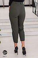 Жіночі джинсові штани-галіфе з завищеною талією з 50 по 56 розмір, фото 2