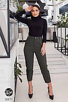 Жіночі джинсові штани-галіфе з завищеною талією з 50 по 56 розмір, фото 6