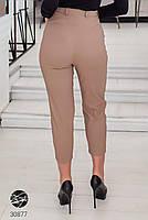 Жіночі джинсові штани-галіфе з завищеною талією з 50 по 56 розмір, фото 7