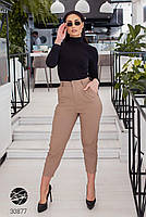 Жіночі джинсові штани-галіфе з завищеною талією з 50 по 56 розмір, фото 4