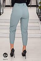 Жіночі джинсові штани-галіфе з завищеною талією з 50 по 56 розмір, фото 5