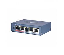 Комутатор POE Hikvision 51V DS-3E0105P-E 4 портів POE + 1 порт Ethernet (Uplink) 10/100 Мбіт / сек, БП 51В,