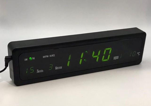 Настольные электронные часы CX 808 green
