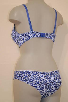 Бело-синий комплект нижнего белья, фото 2