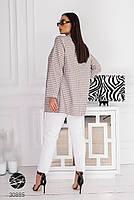 """Свободный блейзер из плотной костюмной ткани с принтом """"гусиная лапка"""" с 48 по 58 размер, фото 5"""
