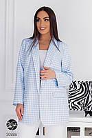 """Свободный блейзер из плотной костюмной ткани с принтом """"гусиная лапка"""" с 48 по 58 размер, фото 2"""