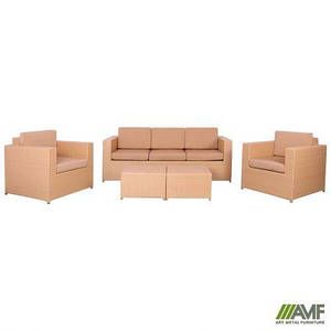 Комплект ротанговой мебели Santo из пластикового плетения Elit бежевый цвет