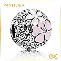 Пандора Клипса Цветы Pandora 792084CZ