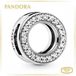 Пандора Клипса Reflex Круг паве Pandora 798600C01