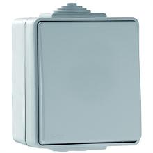 Выключатель одноклавишный наружный пылевлагозащищенный IP65 Efapel Waterproof48 серый 48011 CCZ