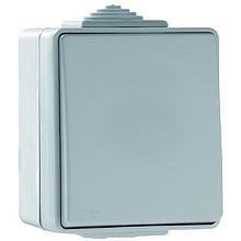 Выключатель одноклавишный наружный проходной пылевлагозащищенный IP65 Efapel Waterproof48 серый 48071 CCZ
