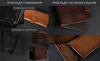 Шкіряна монетниця, Шкіра Пуллап, колір Коньяк, фото 3