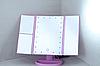Потрійне дзеркало з віконницями з led-підсвічуванням Рожеве, фото 2