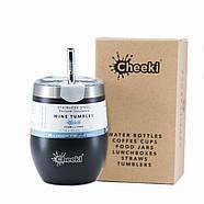 Термостакан для напитков со стальной трубочкой Cheeki Wine Tumbler Rich Black (320 мл), фото 4
