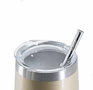 Термостакан для напитков со стальной трубочкой Cheeki Wine Tumbler Soft Gold (320 мл), фото 2