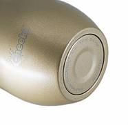 Термостакан для напитков со стальной трубочкой Cheeki Wine Tumbler Soft Gold (320 мл), фото 4