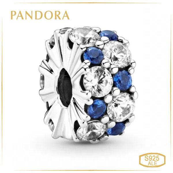 Пандора Клипса Прозрачно голубое сияние Pandora 799171C01