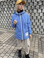 Куртка ветровка плащ бомбер женский короткий демисезонный легкий женский баттал большого размера Весна осень
