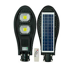Потужний ліхтар на сонячній батареї з датчиком руху UKC (ART7481), 220W ліхтар з пультом управління