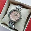 Жіночі наручні годинники Michael Kors сріблястого кольору з пудровим циферблатом, два ряди каменів, дата - код 1915