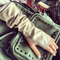 Высокие перчатки-митенки (разные цвета)