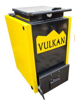 Котел Vulkan 10 кВт termo твердотопливный шахтный (Холмова). Бесплатная доставка!