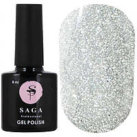 Светоотражающий гель-лак для ногтей Saga FIERY GEL №01, 8 мл