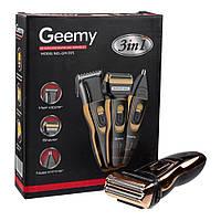 Электробритва сеточная триммер для бороды Geemy GM 595 машинка для стрижки носа и ушей 3 в 1