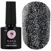 Светоотражающий гель-лак для ногтей Saga FIERY GEL №02, 8 мл